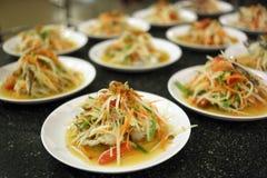 Papaya salad in dish. Stock Image
