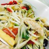 Papaya salad. Eat papaya salad Stock Image