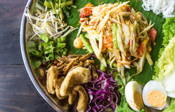 Papaya Salad Famous Thai Food, Somtum Stock Image
