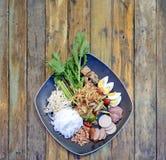 Papaya salad. Famous Thai food, papaya salad or what we called `Somtum` in Thai Royalty Free Stock Image