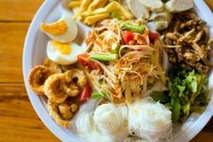 Papaya salad food selection Royalty Free Stock Image