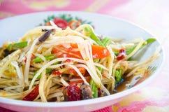 Papaya salad. Food thailand Royalty Free Stock Image
