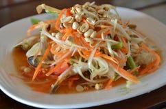 Papaya salad. Green papaya salad thai food Stock Photography