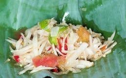 Papaya salad. Green papaya salad ,Thai food Royalty Free Stock Photos