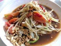 Papaya Salad with groundnut Stock Photo