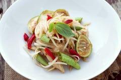 Papaya salad with horse crab Royalty Free Stock Photography