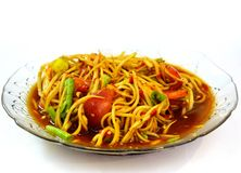 Papaya salad hot and spicy Royalty Free Stock Image