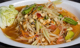 Papaya salad hot and spicy Royalty Free Stock Image