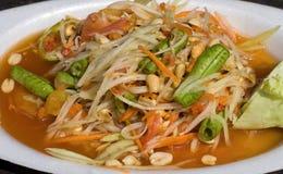 Papaya salad hot and spicy Stock Photo