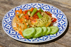 Papaya salad hot and spicy Royalty Free Stock Photography