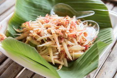 Papaya salad,papaya pok pok,Thai traditional food. Papaya salad,papaya pok pok, a delicious Thai traditional food Stock Image