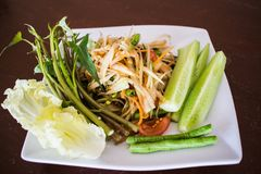 Papaya Salad stock image