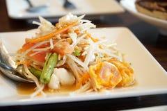Papaya Salad. The Picture of papaya salad in thai style Royalty Free Stock Photography