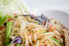 Papaya Salad with Salted Crab. Papaya salad,somtum,papaya,salad,thaifood,thailand,food,thailandonly,North Eastern Food stock photo