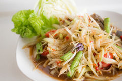 Papaya Salad with Salted Crab. Papaya salad,somtum,papaya,salad,thaifood,thailand,food,thailandonly,North Eastern Food Stock Image