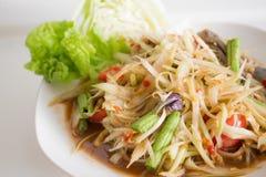 Papaya Salad with Salted Crab Stock Image
