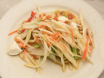 Papaya salad with salted egg Royalty Free Stock Photo