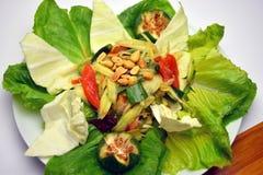 Papaya salad. With shrimp and octopus Stock Images