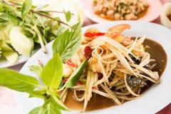 Papaya salad or Som Tam Royalty Free Stock Photo