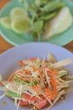 Papaya salad or Som Tam. Thai food Royalty Free Stock Photography