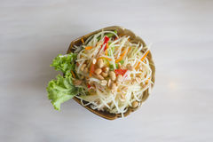 Papaya salad or Som Tam. Thai food royalty free stock photography