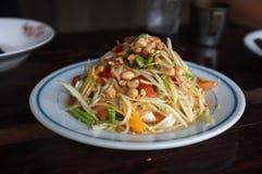Papaya salad or Som tum.  royalty free stock images