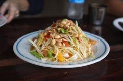 Papaya salad or Som tum.  royalty free stock photography