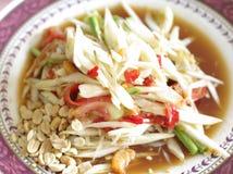 Papaya salad, som tum, delicious thai food Stock Images