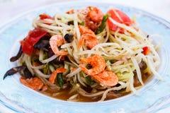 Papaya salad (Som Tum). Famous Thai food, papaya salad (Som Tum stock photo