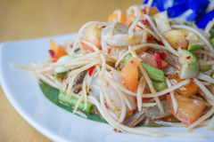 Papaya Salad. Som Tum or Papaya Salad, Papaya Pok Pok, Thai Traditional Cuisine, Popular Thai Food Royalty Free Stock Images