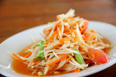 Papaya Salad (Som Tum) Stock Photo