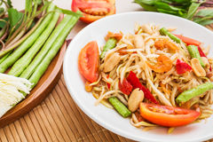 Papaya salad (Som Tum),Thai food Royalty Free Stock Photography