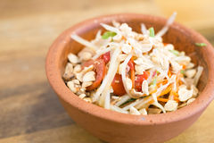 Papaya Salad (Som tum Thai). Thai style food stock images
