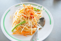 Papaya salad. Som Tum, Thai papaya salad. Thai food royalty free stock photo
