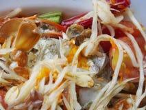 Papaya salad (Som tum) Stock Image