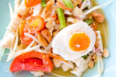 Papaya salad, Somtam. Papaya salad (Somtam) is delicious spicy Thai food Stock Photography