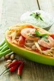 Papaya salad. Somtam or papaya salad, Thai food Stock Image