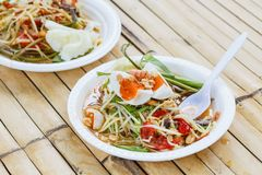 Papaya salad. Somtam thai food royalty free stock photography