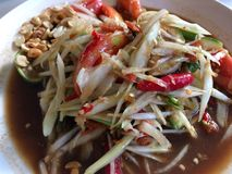 Papaya Salad or Somtum. In holiday from Chiangmai Thailand Royalty Free Stock Image