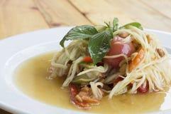 Papaya salad somtum thai asian cuisine vegetable Royalty Free Stock Photos