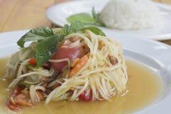 Papaya salad somtum thai asian cuisine vegetable. Papaya salad somtum thai asian cuisine Stock Images
