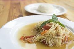 Papaya salad somtum thai asian cuisine vegetable. Papaya salad somtum thai asian cuisine Royalty Free Stock Photo