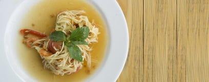 Papaya salad somtum thai asian cuisine vegetable Stock Image