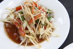 Papaya Salad, Somtum. Thai Food Stock Image