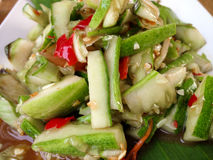 Papaya salad,`Somtum` in Thai food Stock Photography
