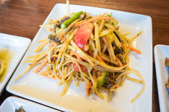 Papaya Salad ,Somtum Thai Food Royalty Free Stock Image
