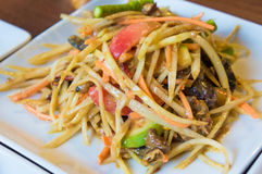 Papaya Salad ,Somtum Thai Food. Close up Royalty Free Stock Photo