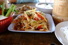 Papaya Salad ,Somtum Thai Food. Thai papaya salad or Som Tum (traditional thai food Royalty Free Stock Images
