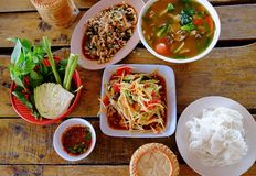 Papaya Salad ,Somtum Thai Food. Thai papaya salad or Som Tum (traditional thai food Royalty Free Stock Photography