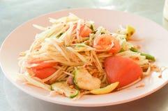 Papaya salad. Somtum or papaya salad thailand healthy food Royalty Free Stock Image